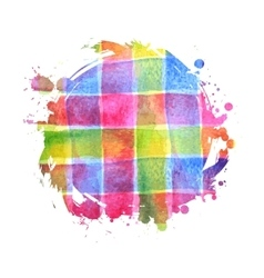 watercolor bright spot for design vector image