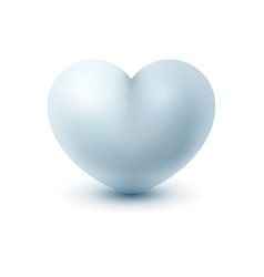 White realistic icon heart on the light background vector