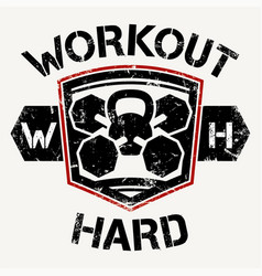 workout hard vector image