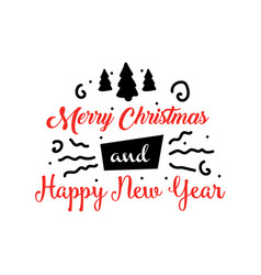 banner or greeting card for merry christmas and vector image vector image