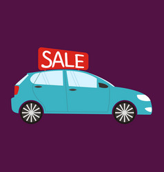 Buying the car car sale vector
