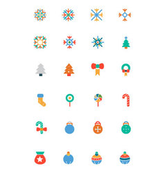 Christmas Colored Icons 1 vector image vector image