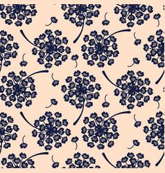elegant dandelion blue floral seamless vector image vector image