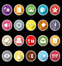 General computer screen flat icons with long vector image vector image