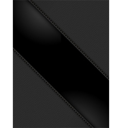 Black leather panels on black vector