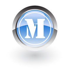 circle letter m icon logo vector image