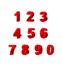 collection of numbers isolated on white background vector image