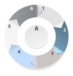 infograpic wheel vector image
