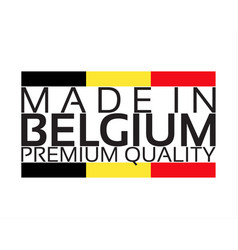 made in belgium icon premium quality sticker vector image vector image