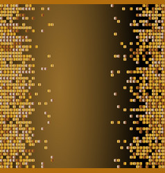 shiny background with golden sequins vector image