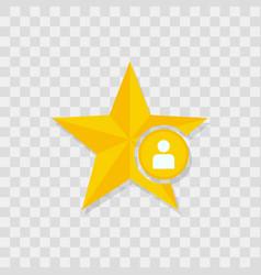 star icon user icon vector image