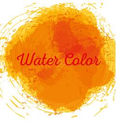 Yellow watercolor art paint vector