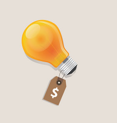idea has a price tag dollar symbol of money label vector image vector image