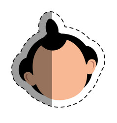 japanese ethnic man avatar vector image