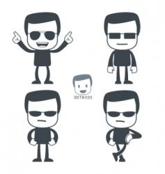 macho icon man vector image vector image