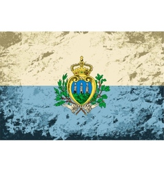 San Marino flag Grunge background vector image vector image