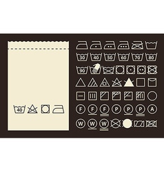 Textile label and washing symbols vector image vector image