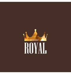 with diamond crown vector image