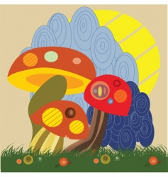 abstract fungus vector image