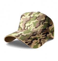 army cap vector image