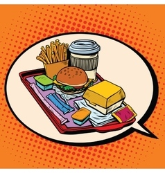 dream of delicious fast food vector image vector image