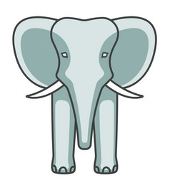 elephant face icon vector image vector image