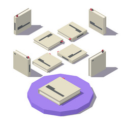 isometric square book vector image
