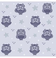 owl wallpaper 2 vector image vector image