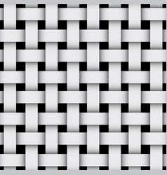 3d geometric background with weaving pattern gray vector