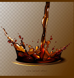 abstract background with transparent cola splash vector image