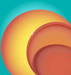 Abstract bright colorful background with circles vector image