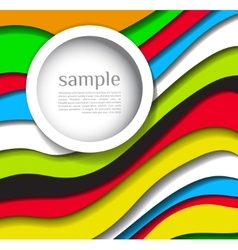 Abstract colorful lines background with bubble vector image