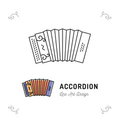 Accordion icon thin line art symbols accordions vector
