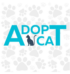 Adopt logo dont shop adopt cat adoption concept vector