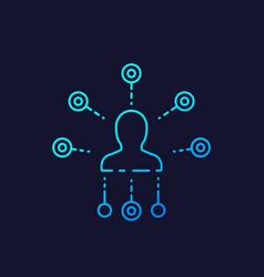 Affiliate marketing line icon on dark vector