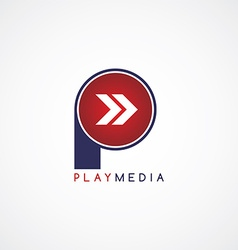 Arrow media play icon theme logotype vector