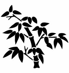 bamboo silhouette vector image