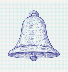 Bell hand drawn sketch vector