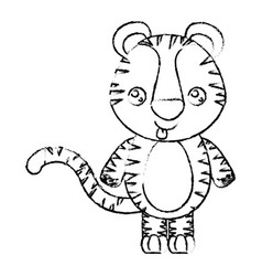 Blurred silhouette of kawaii caricature cute vector