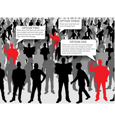 businessman people in square red vector image