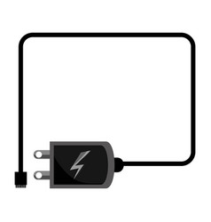Cellphone charger device vector