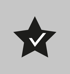 classic star black simple icon aprowed vector image