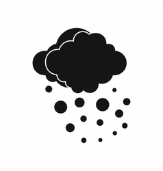 Cloud with hail icon simple style vector image