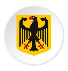 coat of arms of germany icon circle vector image