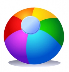 colorful beach ball vector image