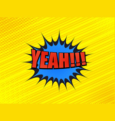 Comic book bright yellow background vector