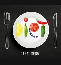 concept diet vector image