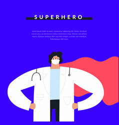 confident male doctor wearing face mask lab coat vector image