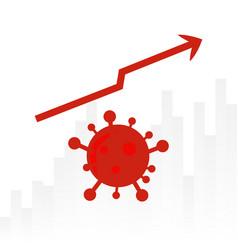Corona virus graphic chart up design background vector