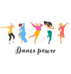 dancing people silhouette vector image